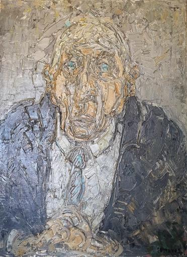 André COTTAVOZ - Pittura - Portrait de Paul Bret