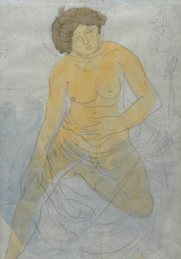 Auguste RODIN - Disegno Acquarello - untitled