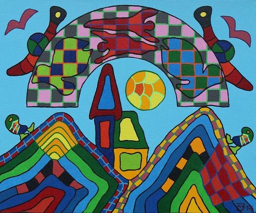 Michael JANSEN - Pintura - Beschützende Wolke
