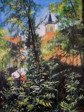 R.CAVALIÉ - Pittura - L'église de Ruffieux