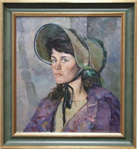 """Arkadi RUSIN - Gemälde - """"Portrait of an Actress"""" by Arkadi Rusin, 1953"""