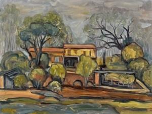 Michel ADLEN - Gemälde - Village