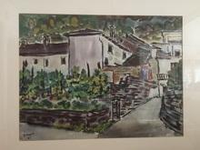 Hermann GOPPELT - Dessin-Aquarelle - Haus am Lago Maggiore