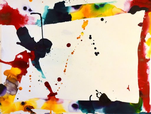 Sam FRANCIS - Painting - Abstract composition