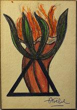 Edgar STOEBEL - Drawing-Watercolor - Composition maçonnique