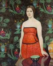 Emma Fordyce MACRAE - Painting - Roland in Red