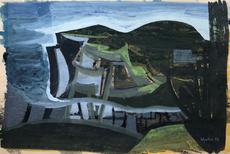 Bryan WYNTER - Dibujo Acuarela - Landscape, 1954
