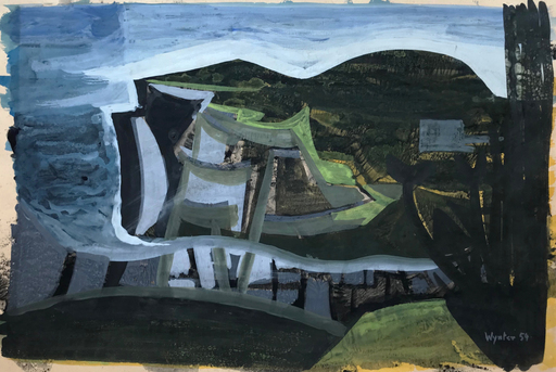 Bryan WYNTER - Dessin-Aquarelle - Landscape, 1954