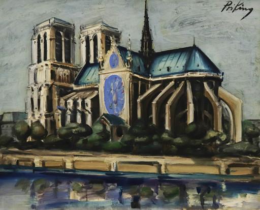 Franz PRIKING - Pittura - Notre-Dame