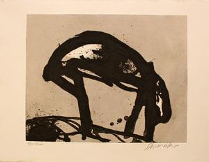 Emil SCHUMACHER - Estampe-Multiple - 25/1990