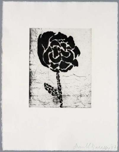 Donald BAECHLER - Print-Multiple - Five flowers (III)
