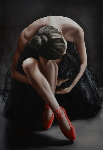 Annick BOUVATTIER - Painting - Swan's dream