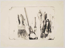 Jim DINE - Stampa Multiplo - Brushes Drawn on Stone #2