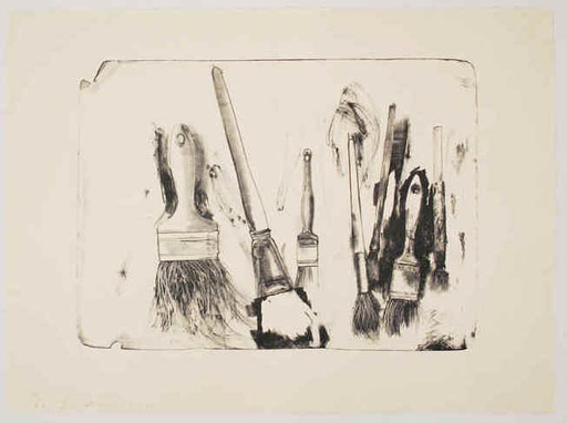 Jim DINE - Print-Multiple - Brushes Drawn on Stone #2