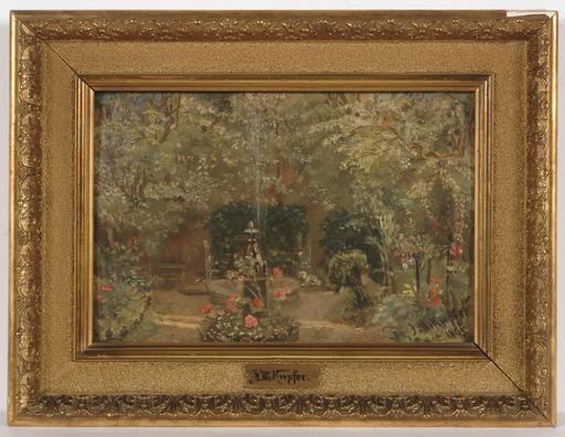 "Johann Michael KUPFER - Peinture - ""Villa garden"""