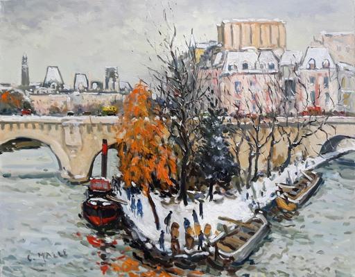 Charles MALLE - Peinture - Le Vert-Galant