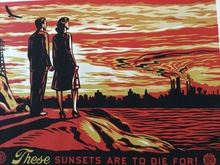 Shepard FAIREY - Print-Multiple - These Sunsets are too die for