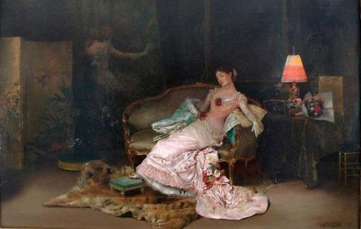 Rogelio EGUSQUIZA Y BARRENA - Gemälde - Un ensueño durante el baile