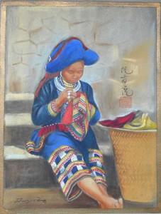 DUYET - Zeichnung Aquarell - CHAPA femme MAN