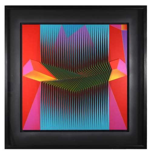 Alberto BIASI - Peinture - Spezzato in rosso