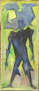 Raymond FEUILLATE - Painting - GRAND PERSONNAGE SURREALISTE