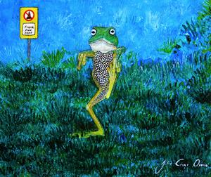 Julio César OSORIO - Pintura - Frack Off    (Cat N° 6301)