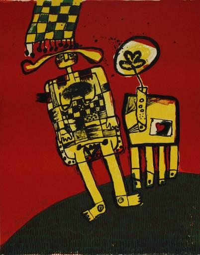 CORNEILLE - Estampe-Multiple - Untitled from 'El circulo de piedra' portfolio