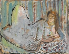 Yehezkel STREICHMAN - Pintura - Reclining Woman