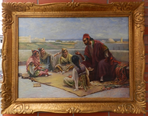 Gyula TORNAI - Pittura - Discussion on the carpet