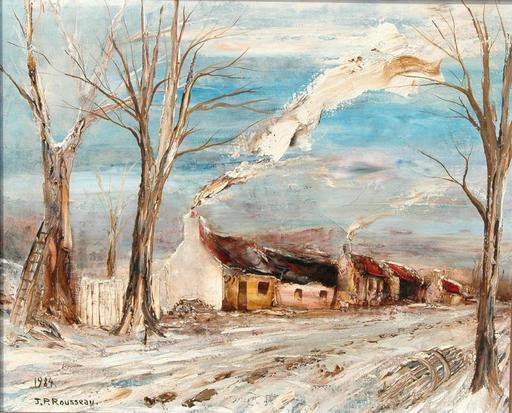 Jean-Pierre ROUSSEAU - Peinture - des pas sur la neige