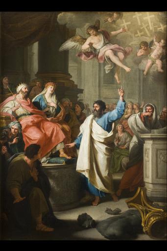 Giuseppe BOTTANI - Painting - Sermon of St. Bartholomew to Polimio, king of Armenia