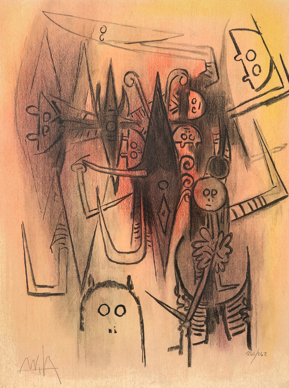 Wifredo LAM - Estampe-Multiple - Untitled