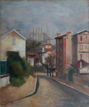 René DUREY - Painting - Vue sur Paris depuis Meudon (rue Robert Julien Lanen)