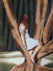 Erlend STEINER LOVISA - Painting - Anne-Margot 4    (Cat N° 6339)