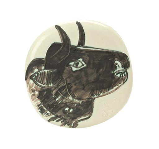 Pablo PICASSO - Keramiken - Profil de taureau