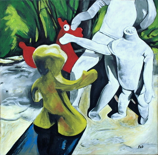 Flo JAOUEN - Painting - « Les potes 2 »