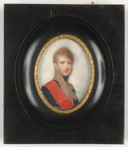 "Jean Baptiste ISABEY - Miniature - ""Portrait of Grand Duke Charles of Baden"", 1805"