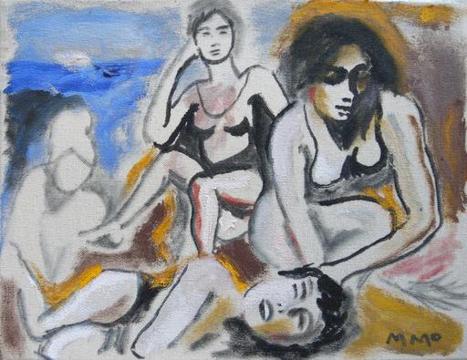 Manuel MONTERO - Peinture - Baigneuses I