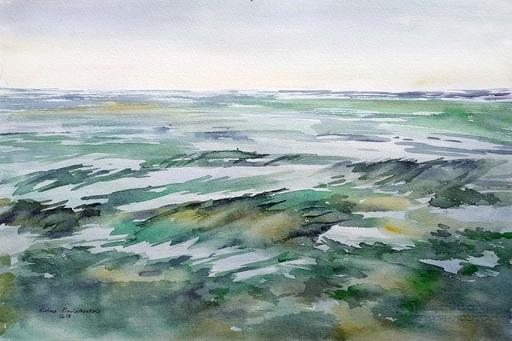 Galina VINDALOVSKAIA - Drawing-Watercolor - Sea Wave Seascape