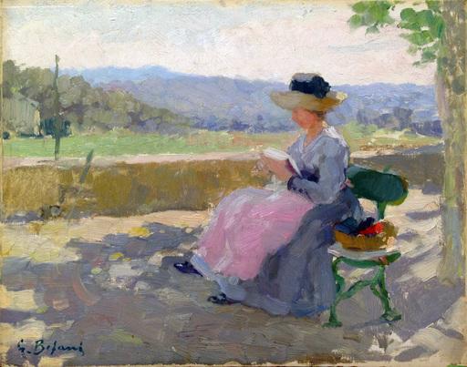 Gennaro BEFANIO - Gemälde - Signora che legge