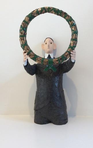 CHASSE-POT - Escultura - Homme à la couronne