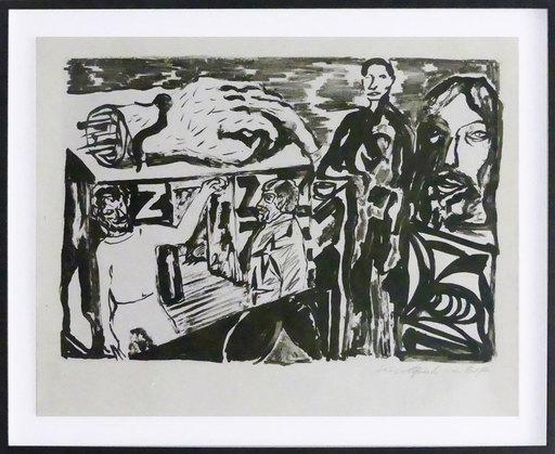 A.R. PENCK - Estampe-Multiple - Dresdner Künstler