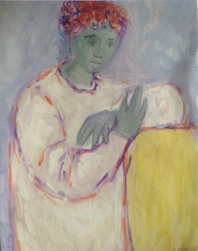 Leopoldo TORRES AGÜERO - Drawing-Watercolor - personnage accoudé