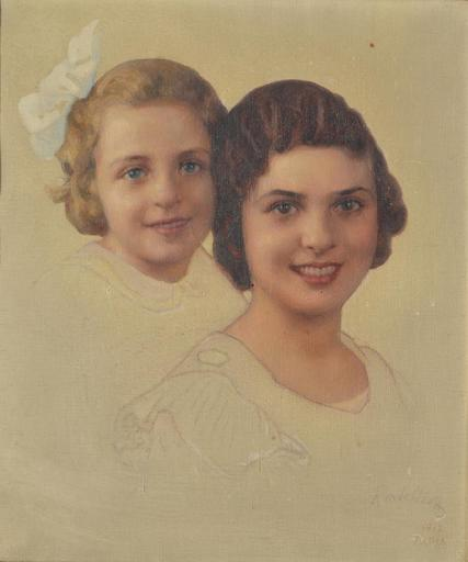 Mikhaïl Viktorovic RUNDALIJZEFF - Painting - double female portrait