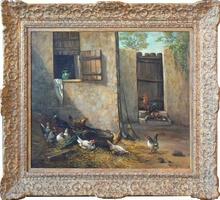 Alexandre DEFAUX (1826-1900) - Poulailler