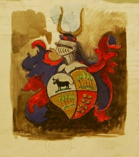 Otto NABER - Painting - Wappen