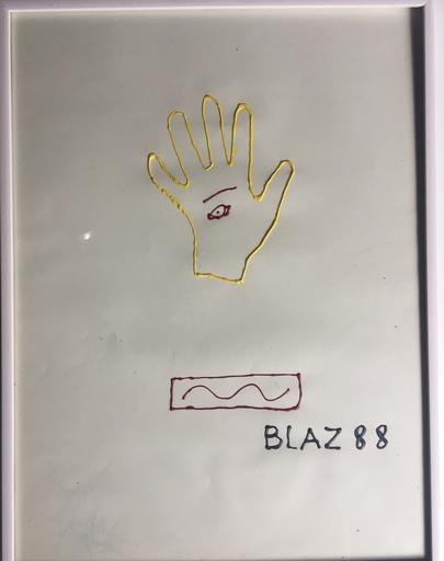 BLAZ 88 - Dibujo Acuarela - la main cyclope