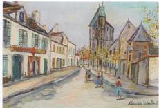 Maurice UTRILLO - Pintura - Rue de banlieue