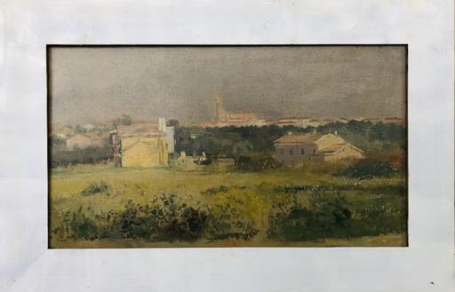 Giovanni BARBISAN - Gemälde - Veduta di Cavarzere