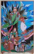 Ilan HASSON - Painting - David's Harp